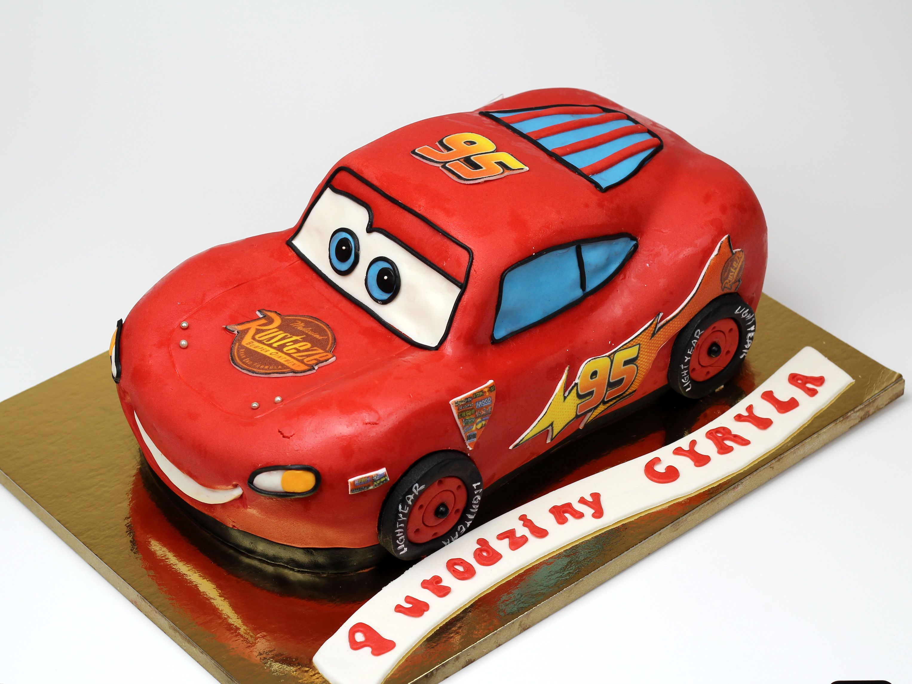 Lightning McQueen Birthday Cake more childrens cakes in London UK