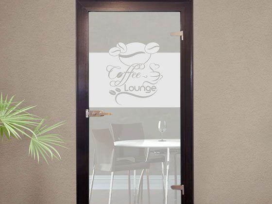 Schön #Sichtschutzdekor Dekor #Milchglasfolie Für #Küche #Kaffee #Bohnen #Tasse # Glastür