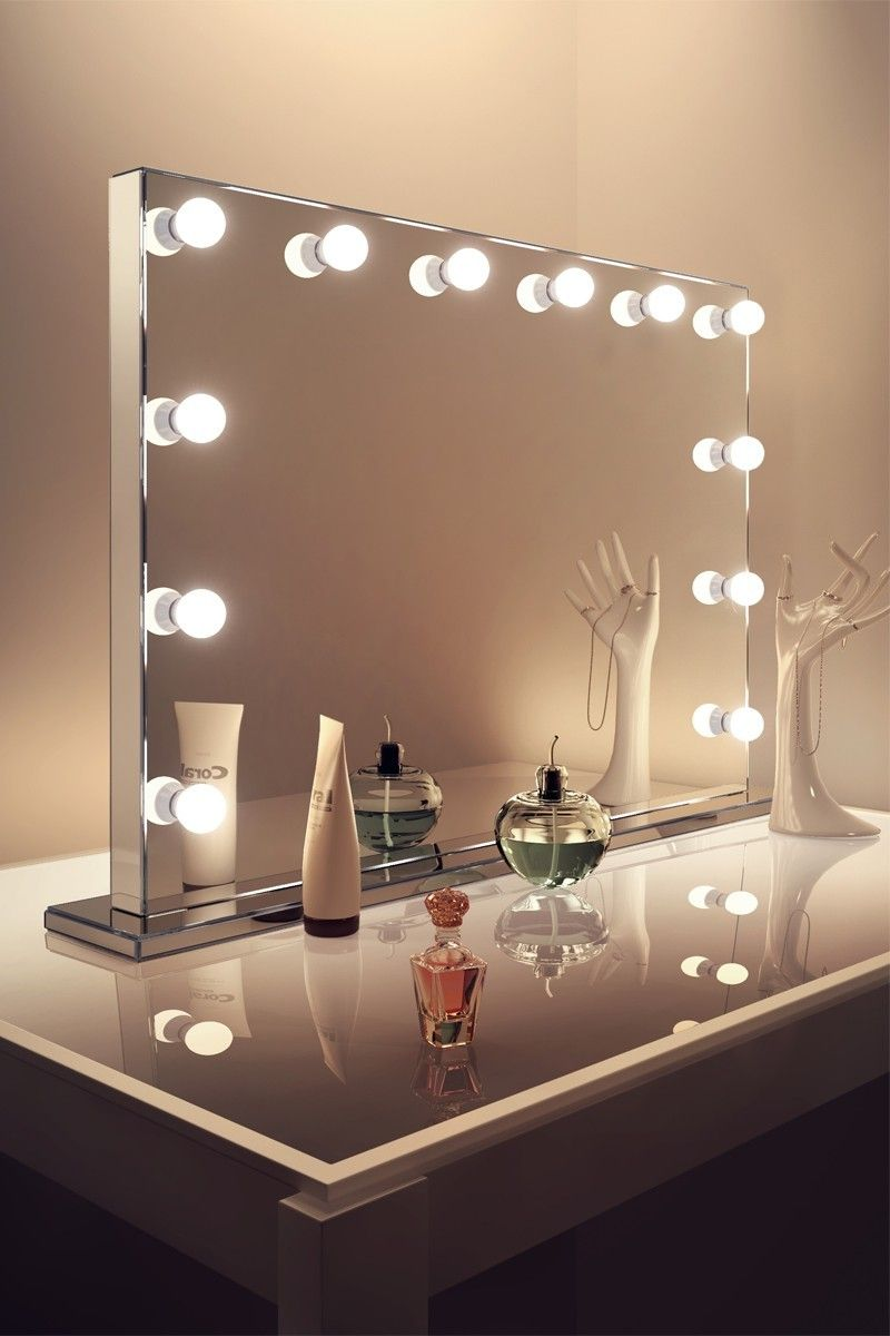 DIY Vanity Mirror With Lights for Bathroom and Makeup Station | Vain ...