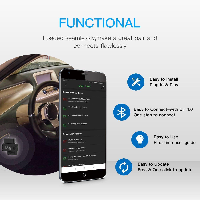 VXDAS Faslink Bluetooth OBD2 Scanner Code Reader