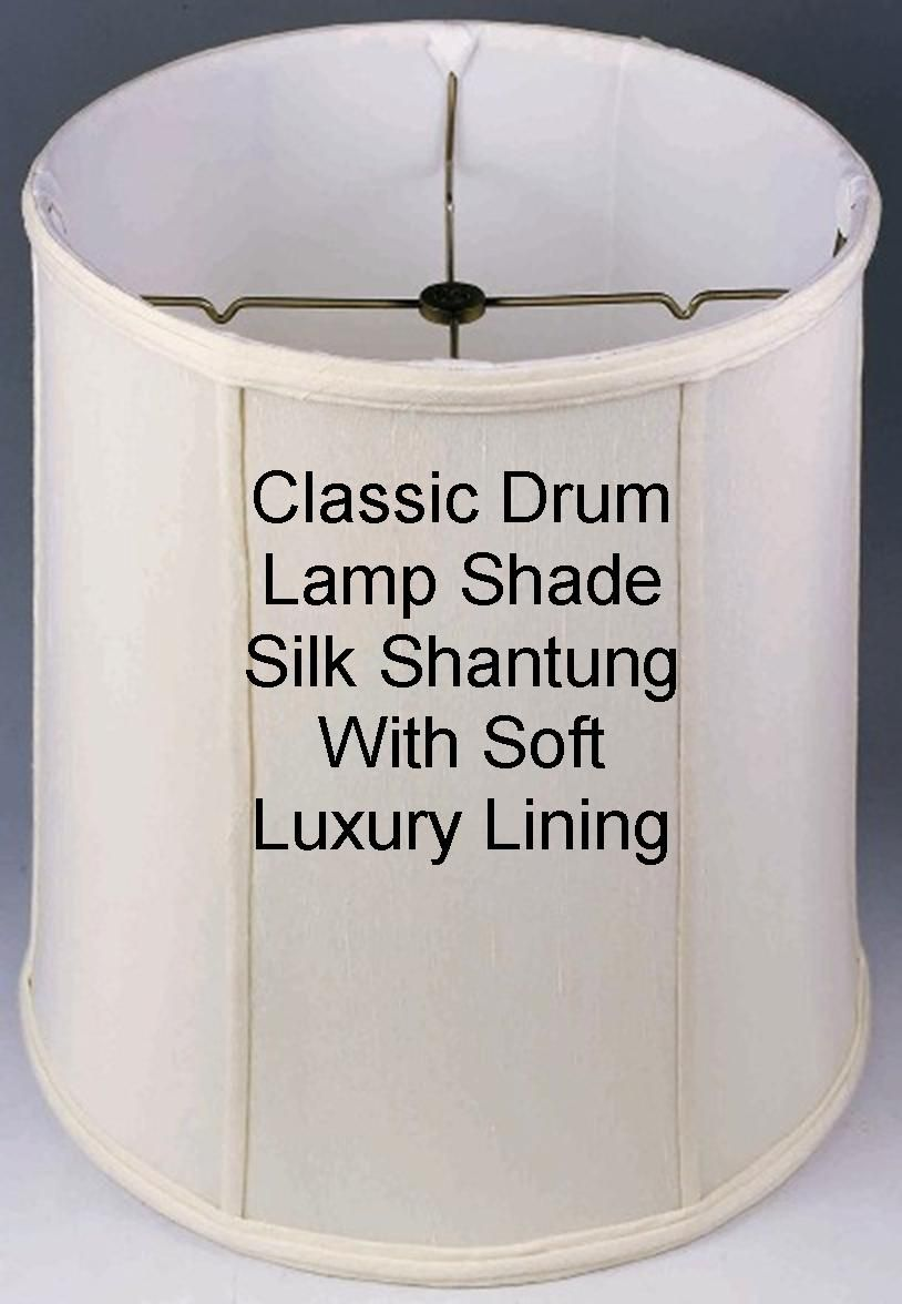 Table lamp harp sizes - Classic Drum Lampshade With Soft Luxury Lining Cream White Beige In Many Sizes