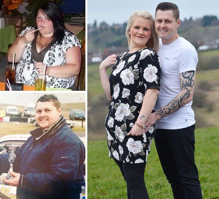 25 PRED a PO fotiek párov, ktorým sa spoločne podarilo schudnúť a úplne tak…