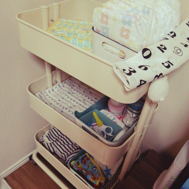 ベビーワゴン Ikea 赤ちゃん 収納 赤ちゃん オムツ 収納