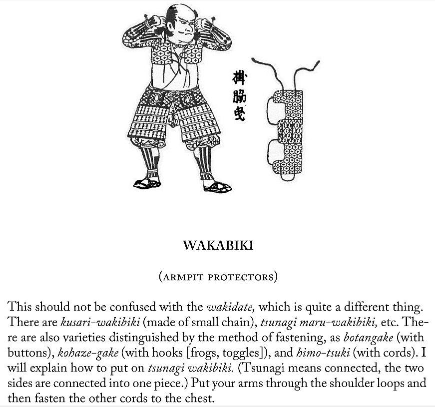 Wakibiki (arm pit protectors), page 16.
