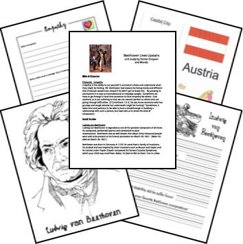 FREE* Beethoven Lives Upstairs Unit Study in 2018 | teaching music ...