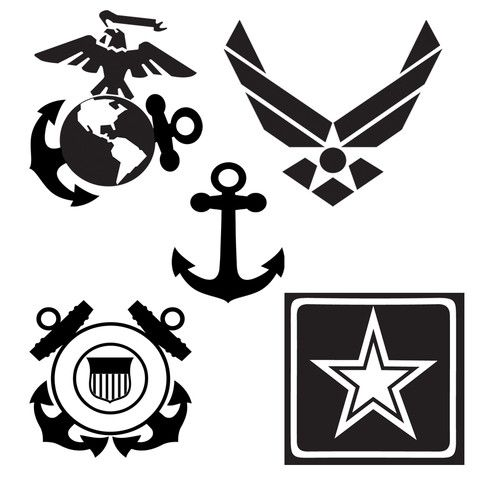 Add on Military Logo   Military crafts, Cricut, Military