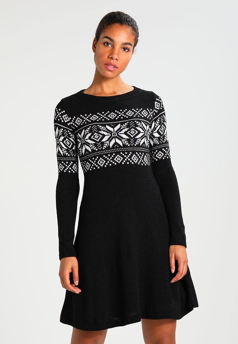 online store d6b93 518f1 Abito in maglia - black @ Zalando.it 🛒 | Fashion - Dresses ...