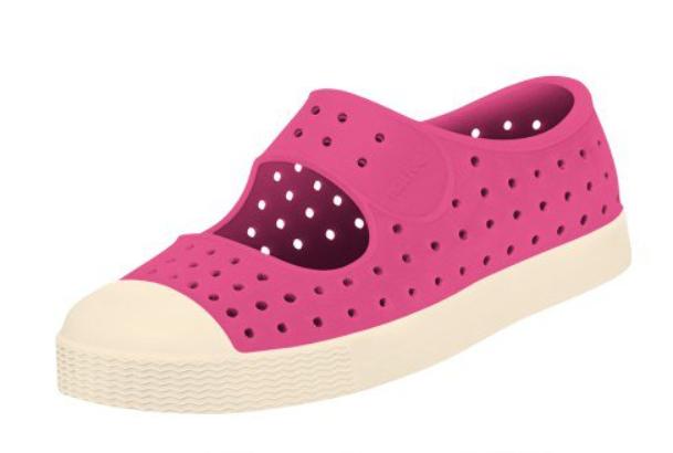 1e90edaff4c Native Shoes Juniper Perforated Mary Jane - Hollywood Pink  Bone White