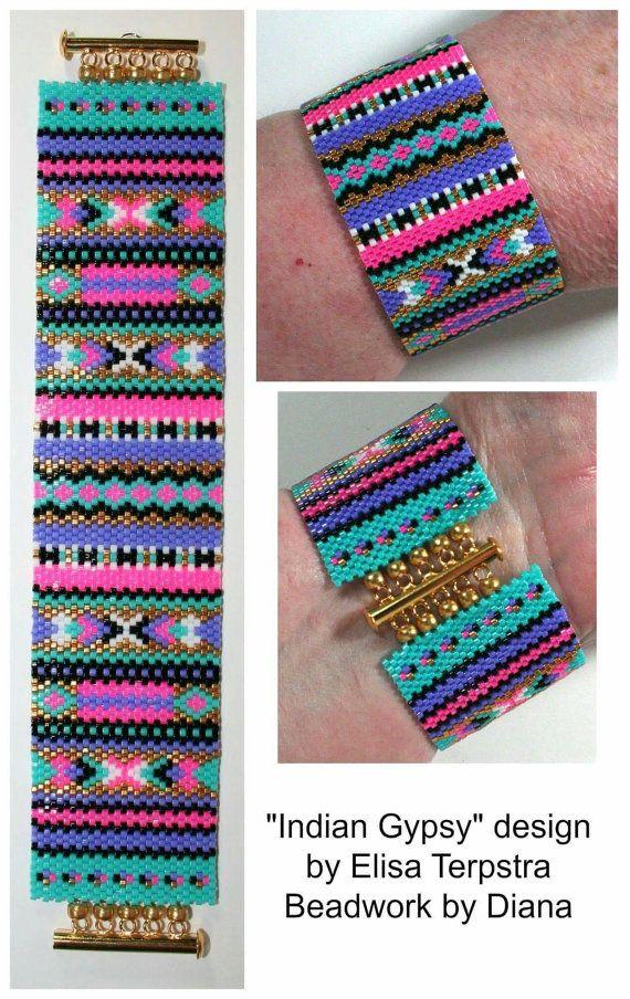 Peyote Patterns  Beading Patterns  Peyote Pattern  Bracelet #gypsy