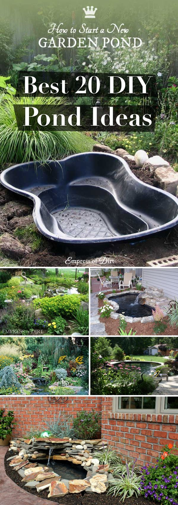 20 innovative diy pond ideas letting you build a water for Still pond garden design