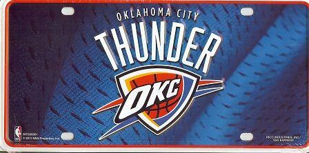 Oklahoma City Thunder License Plate With Images Oklahoma City