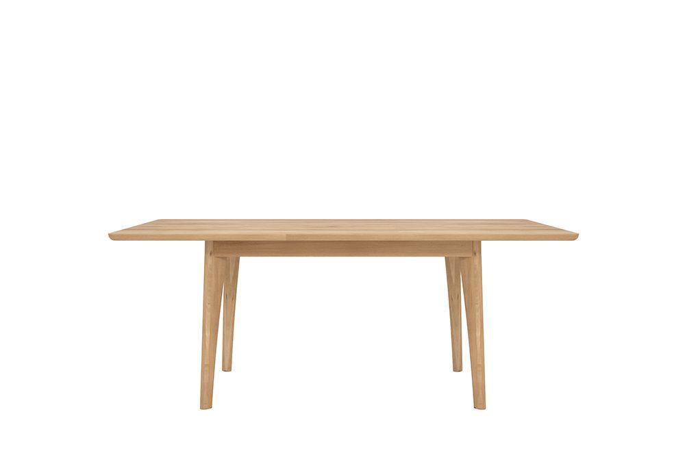 Ethnicraft Tables De Repas Sejour Salle A Manger 53029 Ethnicraft Table Extensible Osso Chene Dimensions L 140 185 X Table Repas Mobilier De Salon Table