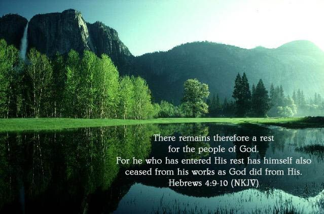 Image result for Hebrews 4:9-10 kjv