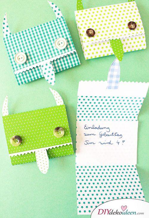 DIY Einladungskarten Selber Basteln: Der Kindergeburtstag Wird Ein Erfolg