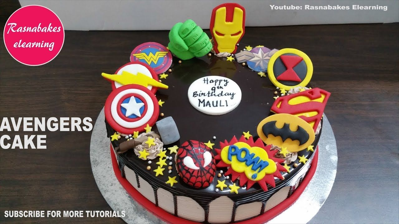 Image for Easy Captain America Birthday Cake