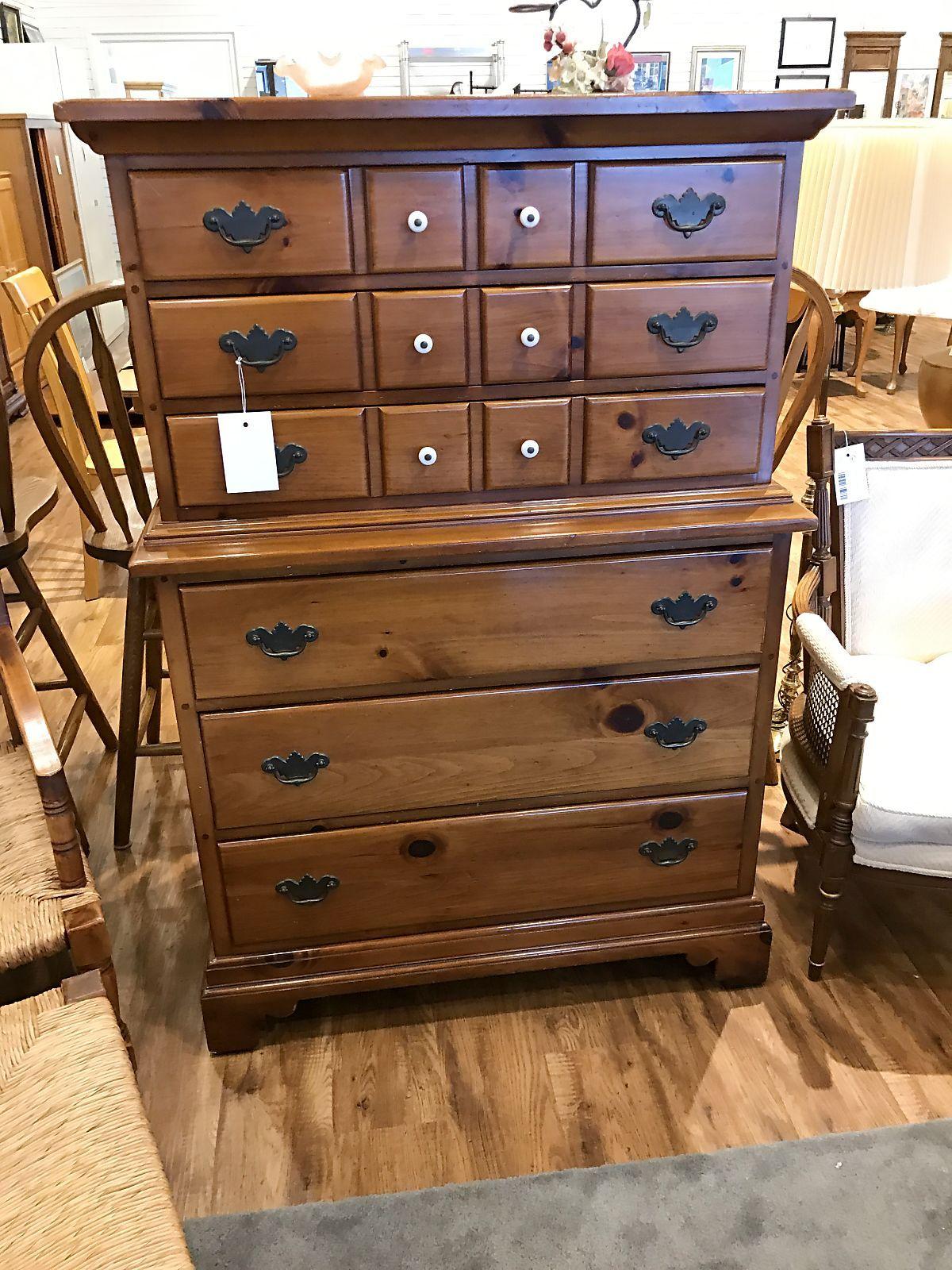 Tall Pine Dresser - $8.8  Pine dresser, Dresser, Second hand