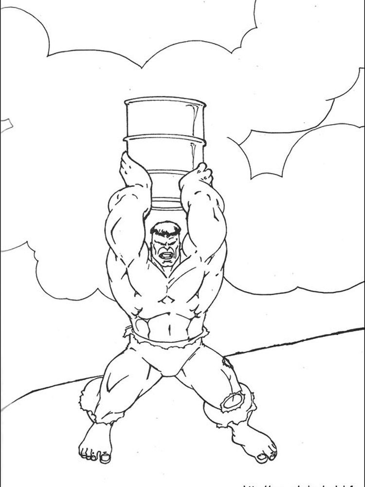 Strong Hulk Coloring Page - Free Printable Coloring Pages for Kids | 1000x750