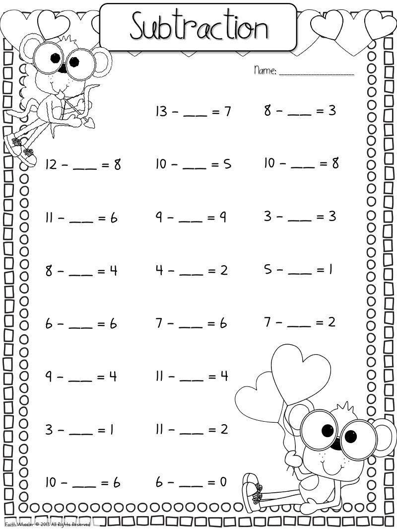 Missing Addend Worksheets Kindergarten Find The Missing Addend Worksheet Download Missing Addend Kindergarten Math Worksheets Free First Grade Worksheets [ 1067 x 800 Pixel ]