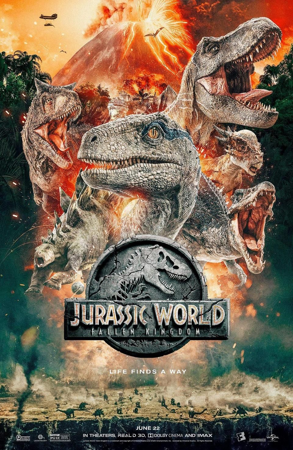 Dinos Assemble In Fandango S Awesomely Ridiculous Jurassic World Fallen Kingdom Poster Jurassic Park World Jurassic World Movie Jurassic World
