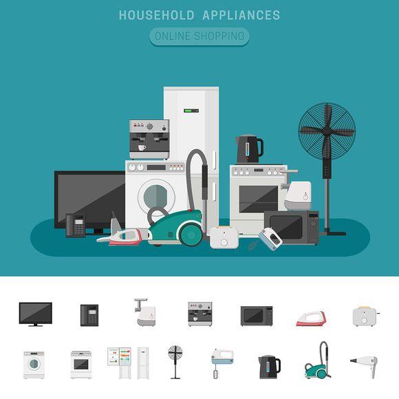 Household Appliances By Bolotoff On Creative Mar Creative