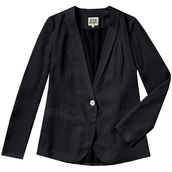 Twist and Tango Eliana Blazer - Washed Black (475 PEN) ❤ liked on Polyvore featuring outerwear, jackets, blazers, washed black, black blazer, lightweight jackets, black jacket, lightweight blazer and light weight jacket