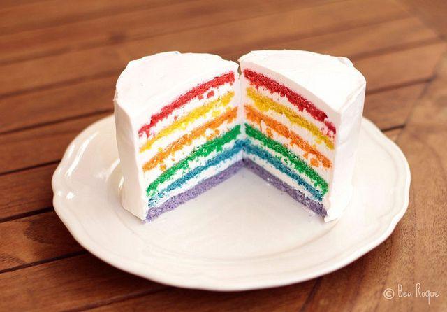 Mini Rainbow Cakes yummyy ! #rainbowcakerecipe | Rainbow ...