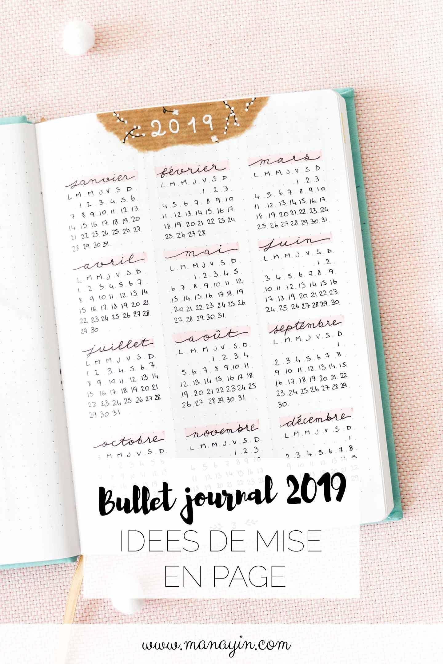 Bullet journal 2019 - Idées de mise en page et collections #futuretravel