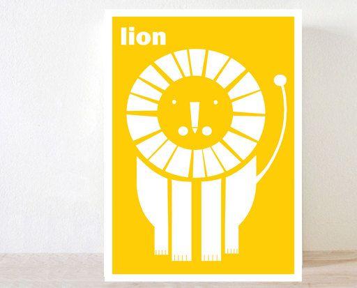 A2, Lion, Quotes print, Nursery Art , Art Print Decor, Children Wall ...