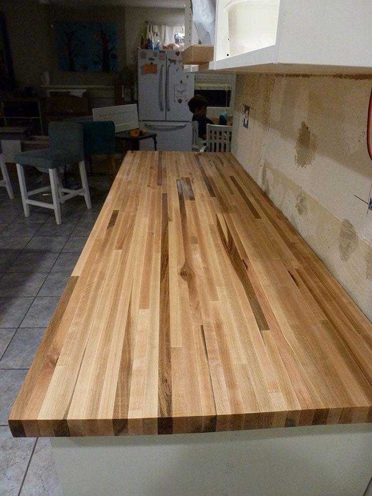 piece of maple counter tops from Lumber liquidators