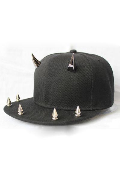 Whole Color Studded Cap Oasap Com Black Canvas Studded Cap
