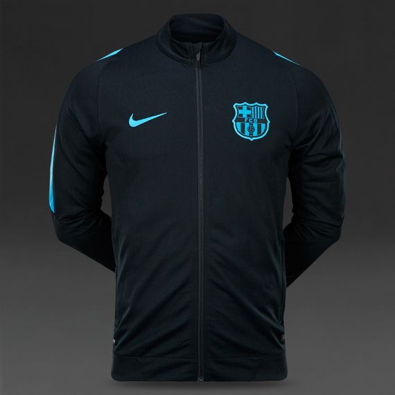 Nike FC Barcelona Revolution Knit Tracksuit - Black  Light Current Blue 19523f6d496