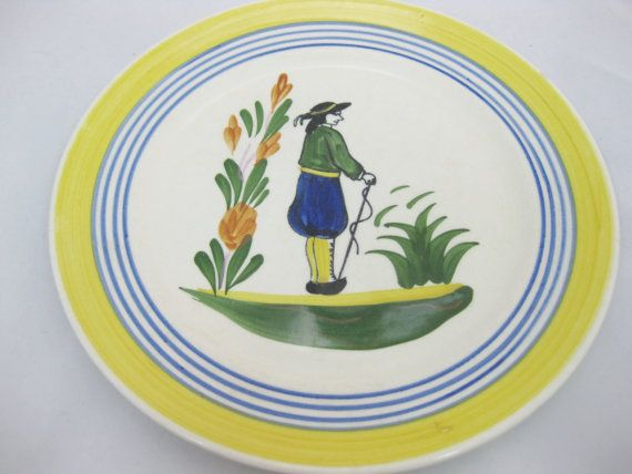 Pottery Plate Decorative Plate Peasant Boy Blue by FreeLiving  sc 1 st  Pinterest & Pottery Plate Decorative Plate Peasant Boy Blue by FreeLiving ...
