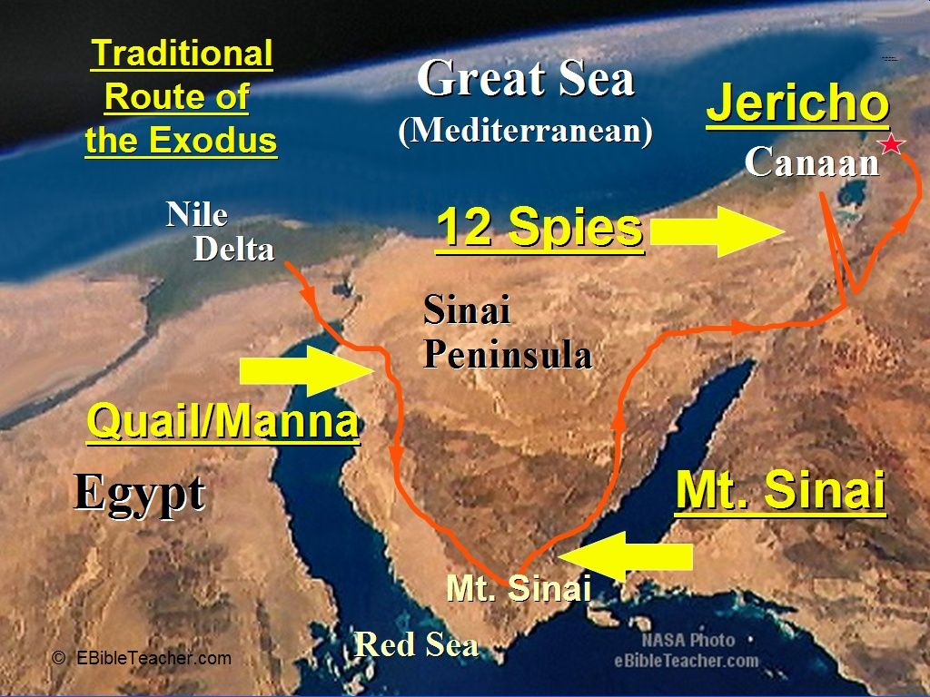 Nasa photo of earth showing exodus journey bible time line bible sciox Gallery