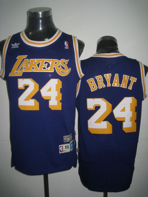 Adidas NBA Los Angeles Lakers 24 Kobe Bryant Swingman Purple Throwback  Jerseys