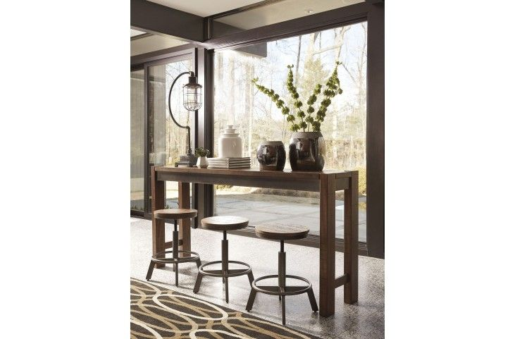 Torjin Brown And Gray Long Counter Height Dining Table From Ashley | Coleman  Furniture