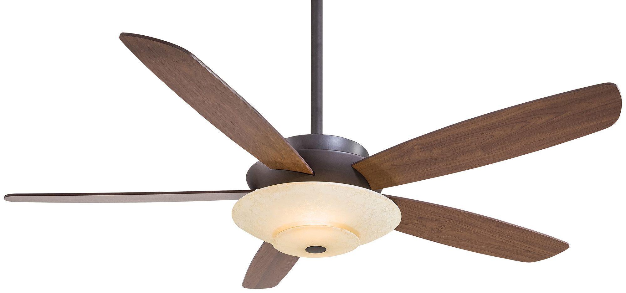 """54"""" Airus 5 Blade Ceiling Fan Ceiling fan, Bronze"""