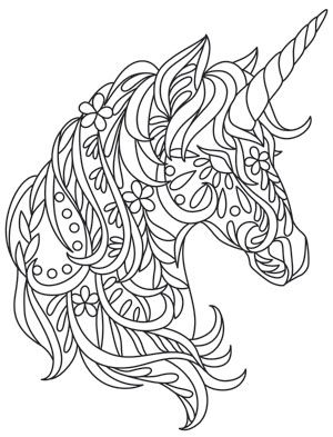Bohemian Unicorn Unicorn Coloring Pages Coloring Pages Quilling Patterns