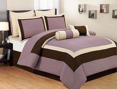 Best 8Pc King Luxury Bed Bag Bedding Bedroom Comforter Set 400 x 300