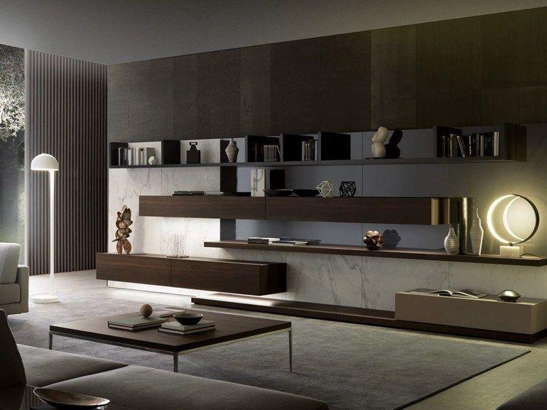 Mueble modular de pared composable con luces integradas TAO10 by