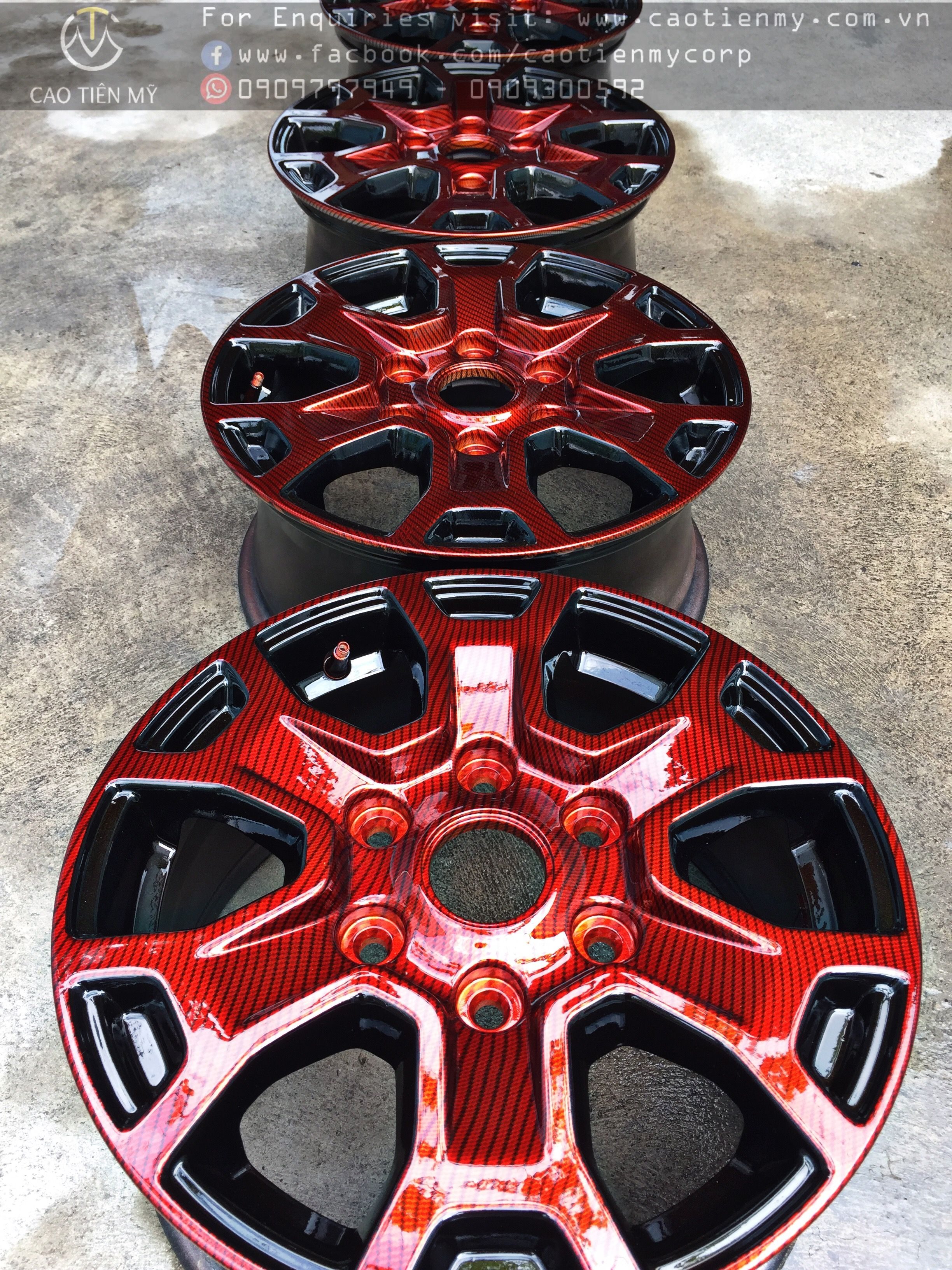 Hydro Dipping Wheel Rim Ford Ranger Hydro Dipping Car Exterior