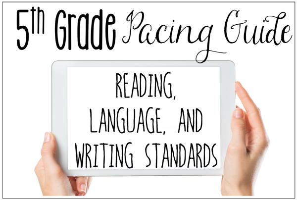 5th grade ela pacing guide free common core standards core rh pinterest com 5th Grade Worksheets to Print 5th Grade Math Worksheets