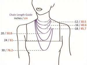 Chain Length Guide: inches / cm 20 / 50.8 24 / 61 30 / 76