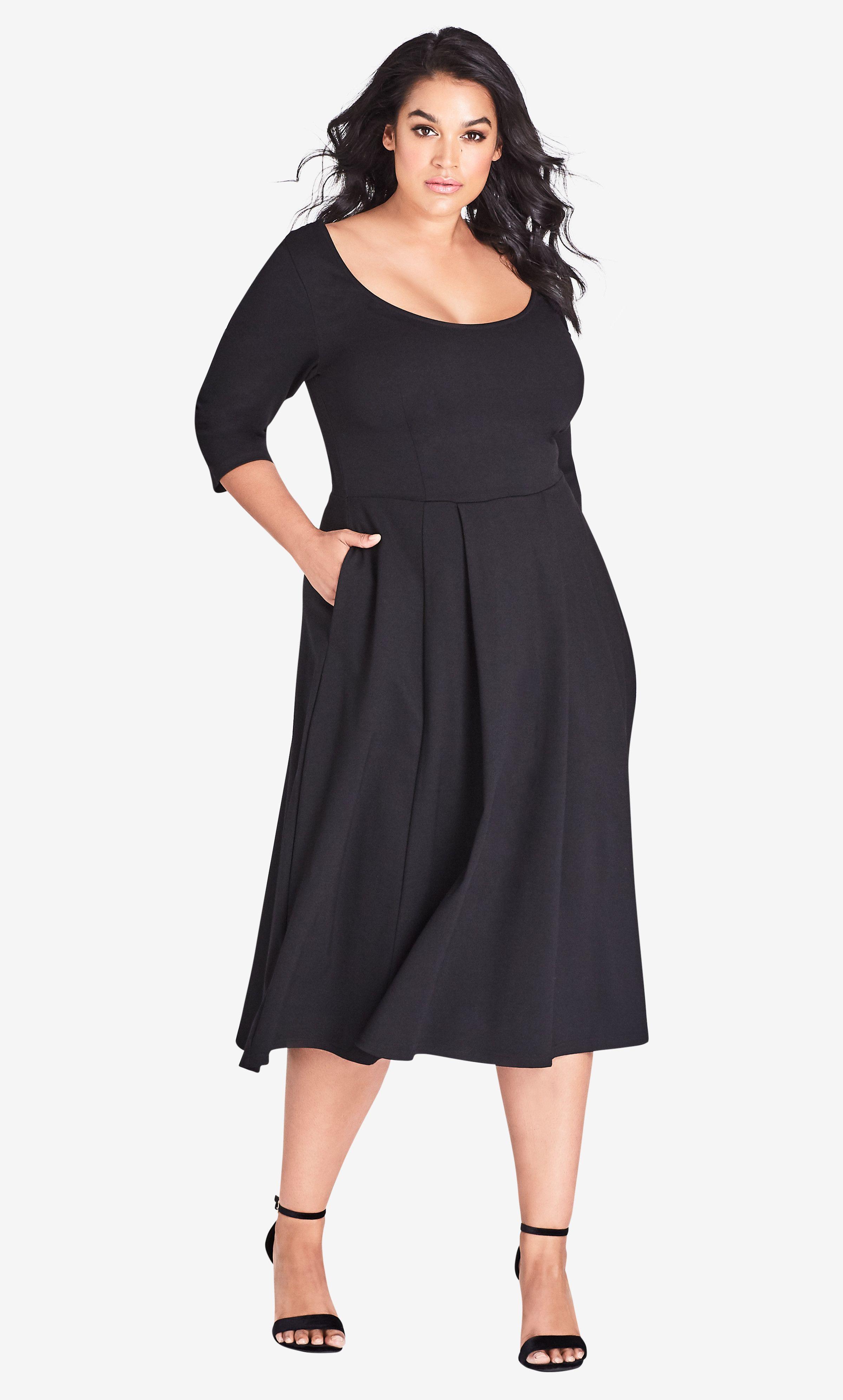 Park Art My WordPress Blog_Black Fit And Flare Dress Plus Size