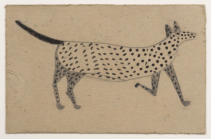 Spotted Dog Bill Traylor 1854 1949 Modern Inventory Hirschl Adler In 2020 Delta Art Speed Art Museum Speed Art