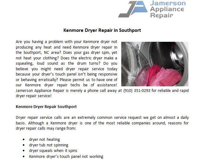 Expert Kenmore Dryer Repair Service Kenmore dryer