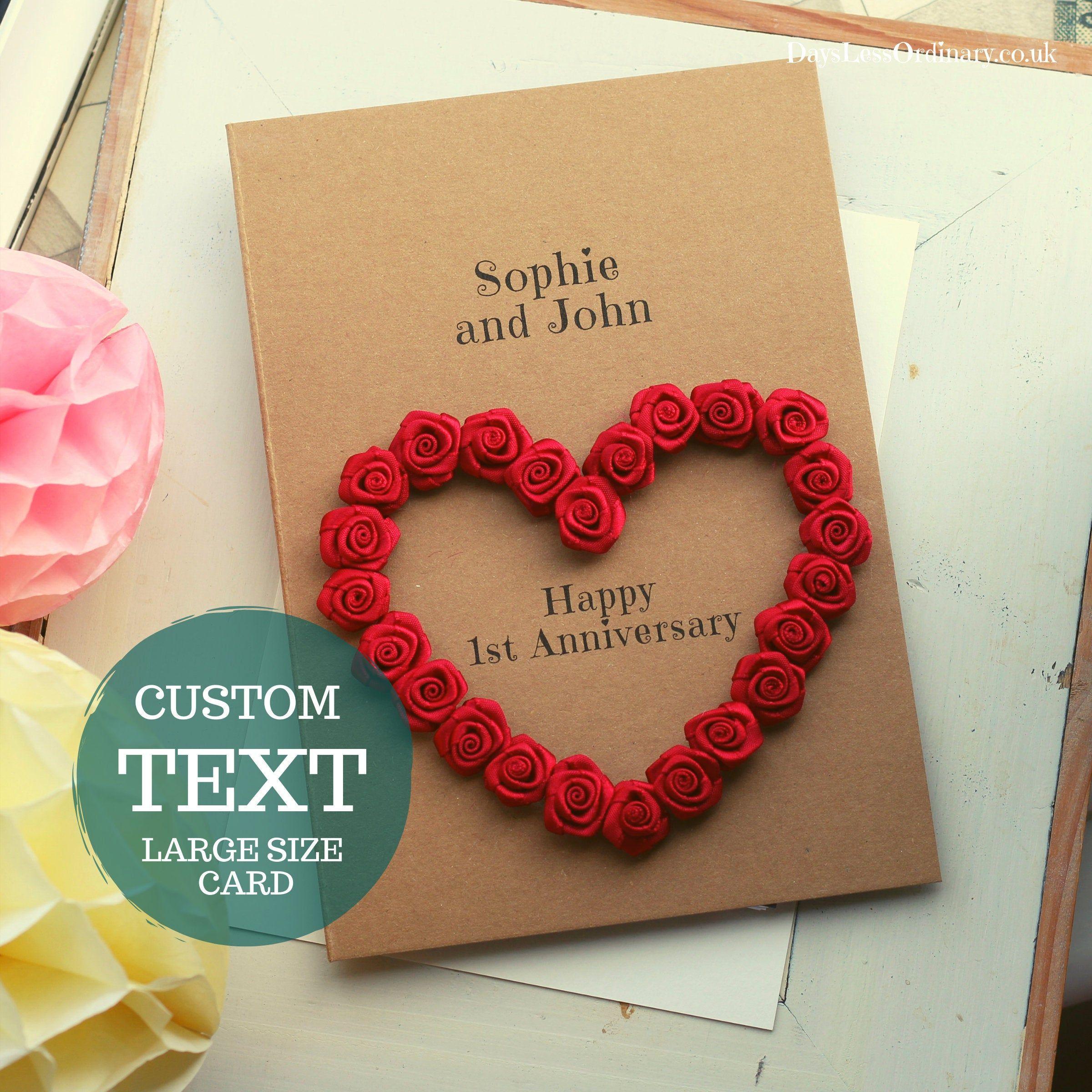 10th Anniversary Card Personalised Tin Wedding Luxury Card Wife