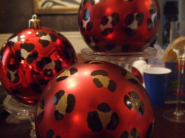 leopard christmas ornaments