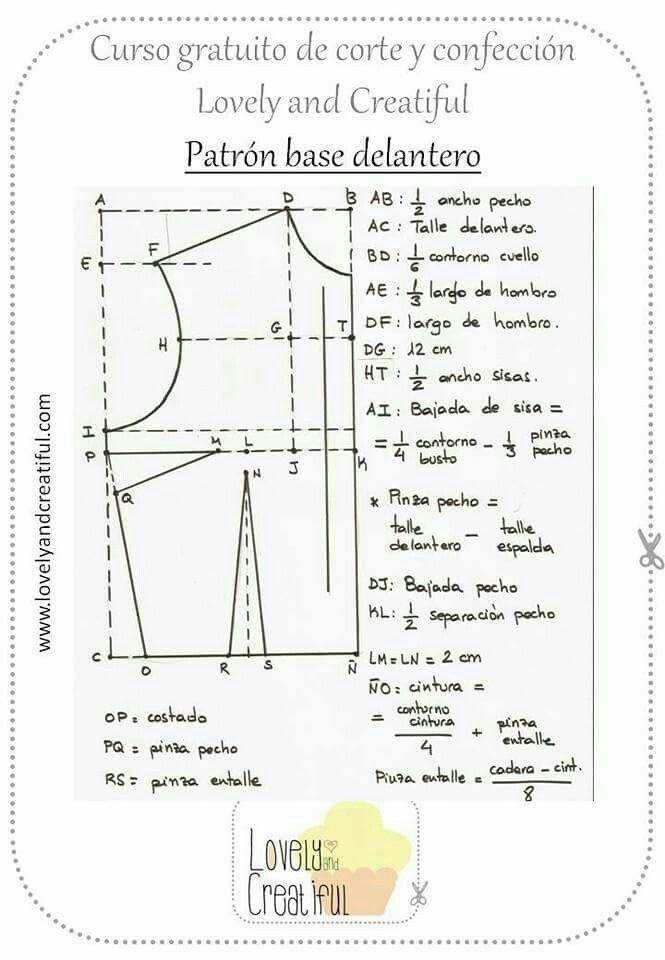 Pin de sonia infante en Patronaje | Pinterest | Patronaje, Costura y ...