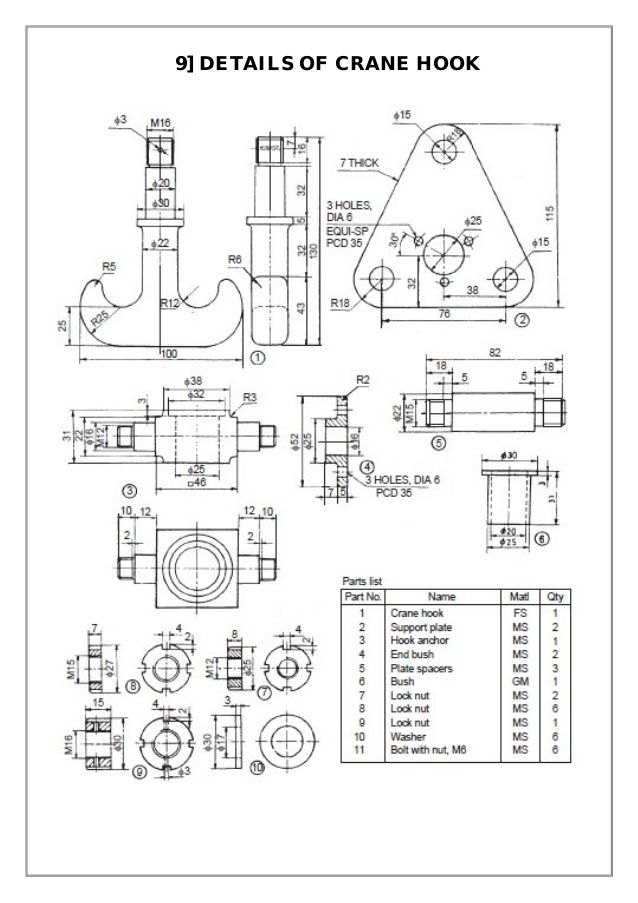 Assembly And Details Machine Drawing Pdf Solidworks