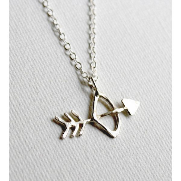 Rachel Pfeffer Jewelry Sterling Silver Bow & Arrow Necklace ($48) ❤ liked on Polyvore